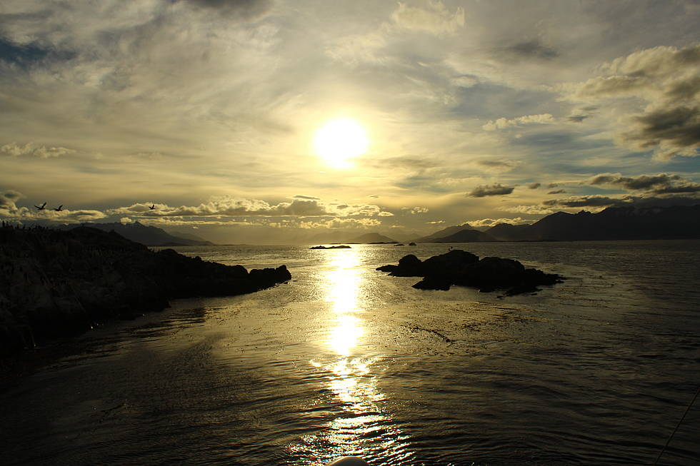 Sun reflection on Beagle Channel