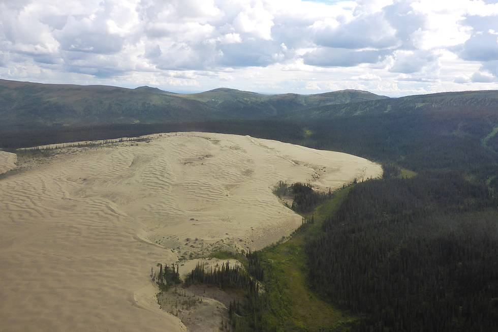 The Kobuk sand dunes -  impressive features in the Kobuk Valley National Park