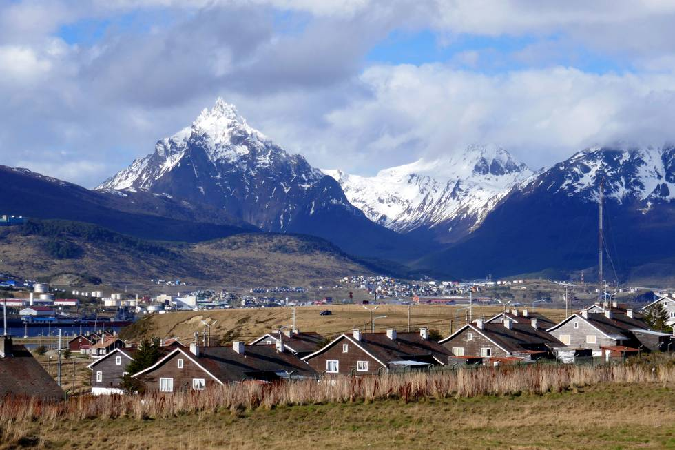 Ushuaia surrounded by mountains
