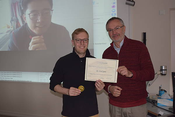 The Heinrich XI Award for young academics was awarded to Paul Gierz.