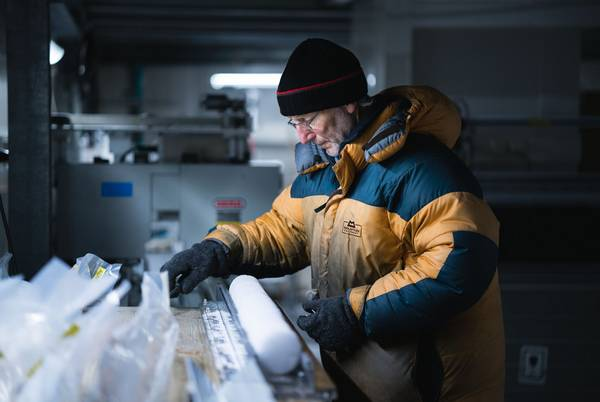 Highly prized objects: Ice cores from deep within the ice sheets of the Antarctic and Greenland.