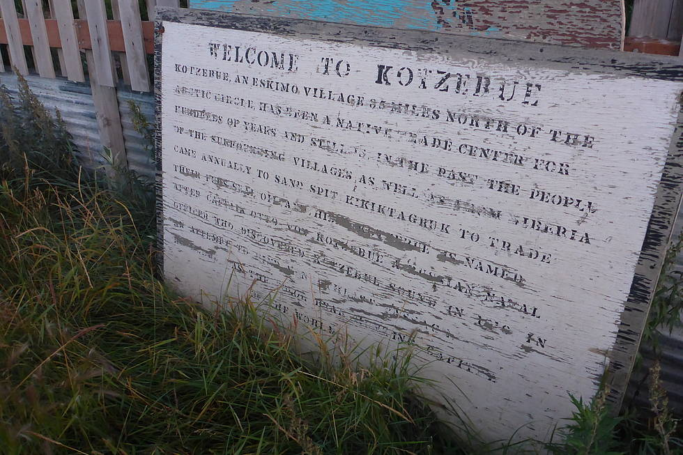 Old 'Welcome to Kotzebue' sign, Kotzebue, Alaska