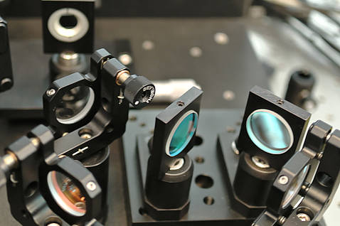 Close-up of the femtosecond laser in the AWI Proxy Laboratory