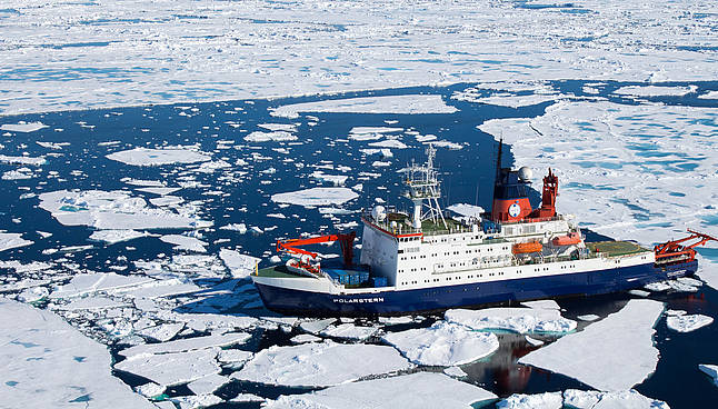 Aerial view of RV Polarstern
