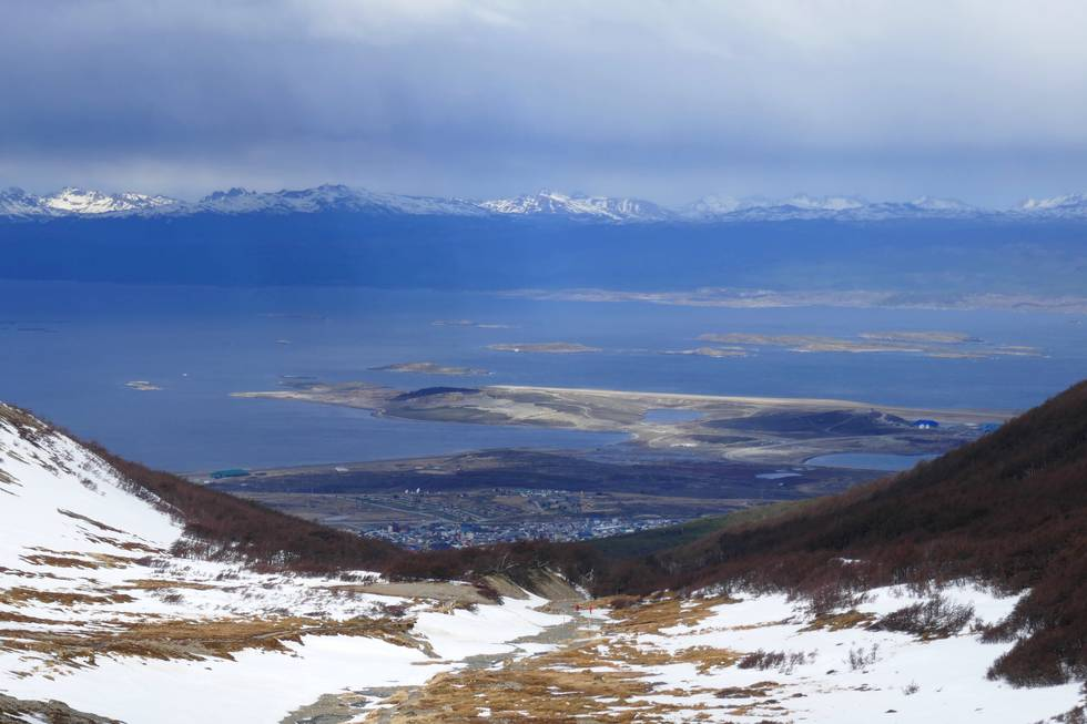 Ushuaia Bay from top