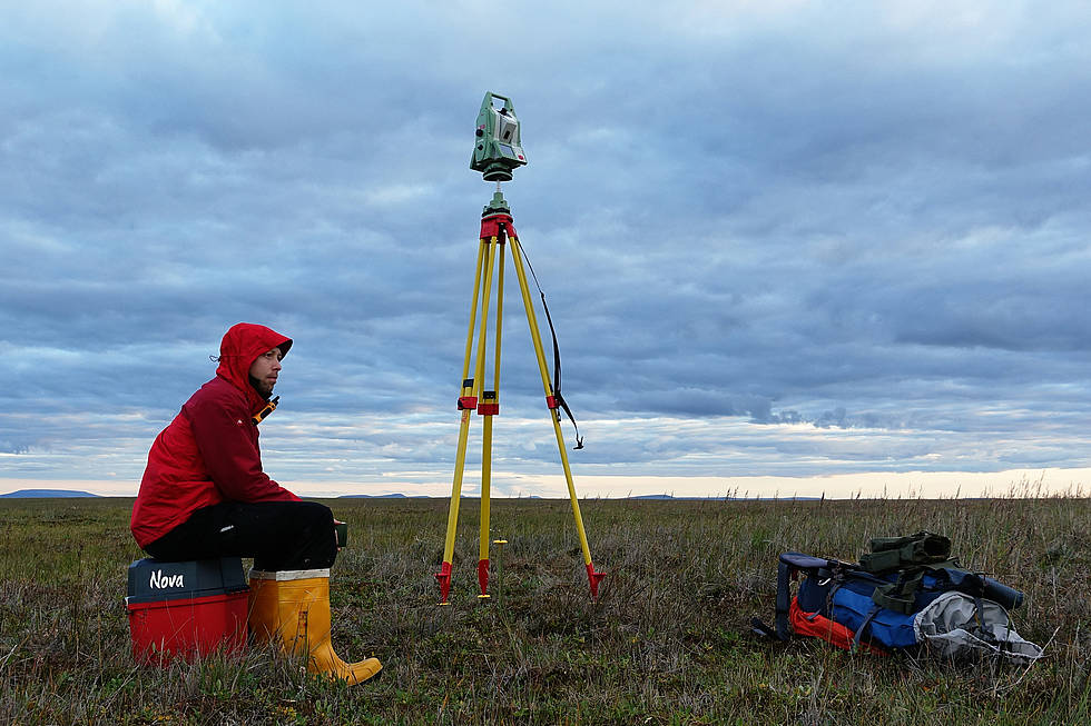 Laser scanning campaign of alas-yedoma thermokarst relief while Watching weather fronts coming and going