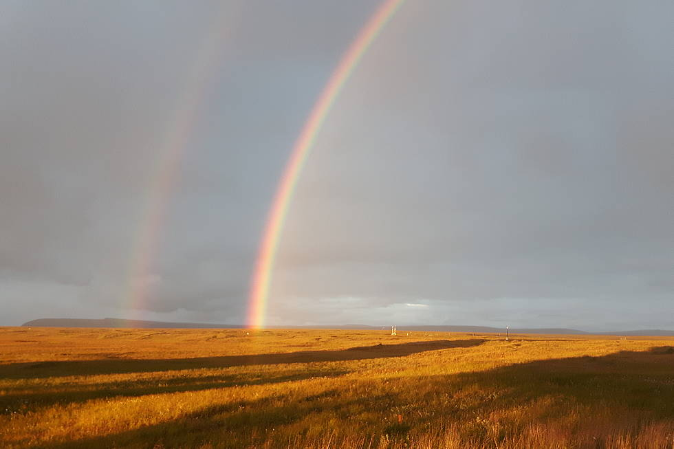 Double rainbow after a downpour