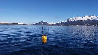The first DYNAMO buoy in the Beagle Channel.