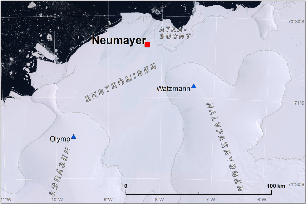 Position of Neumayer on Ekströmisen