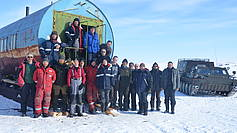 Participants of the 2nd part of the Bykovsky spring expedition 2017, April