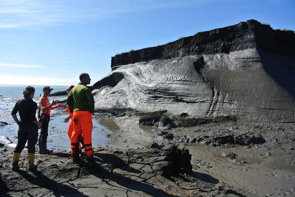 Observation of permafrost on Herschel Island