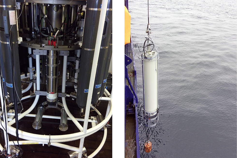 Underwater Vision Profiler(left) and Marine Snow Catcher (right)