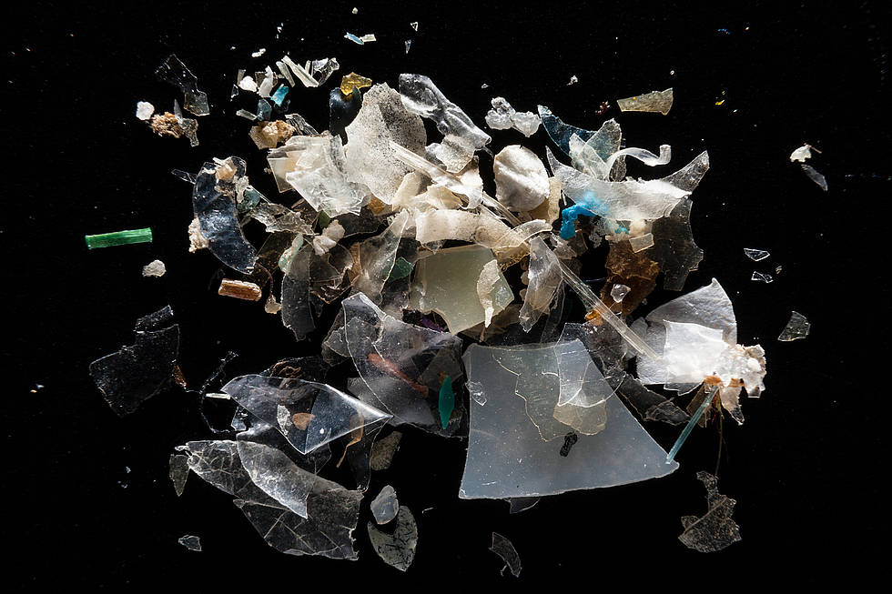A pile of plastic particles: Microplastics from the Magothy River are pictured at the laboratory of Dr. Lance Yonkos in the Department of Environmental Science & Technology at the University of Maryland.