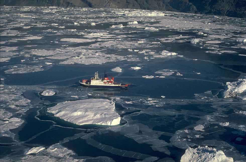 Polarstern in the waters off Greenland