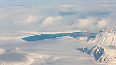 Islands, mountains and fjords characterize the Canadian Archipelago at the Arctic Ocean. This photo was taken during the NETCARE 2015 campaign.