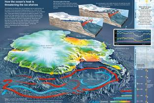 RGB-Info graph: Antarctic – How the ocean's heat is threatening the ice shelves