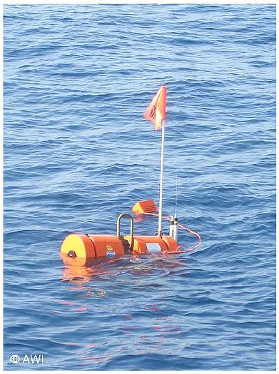 DEPAS ocean bottom seismometer in the Aegean Sea.