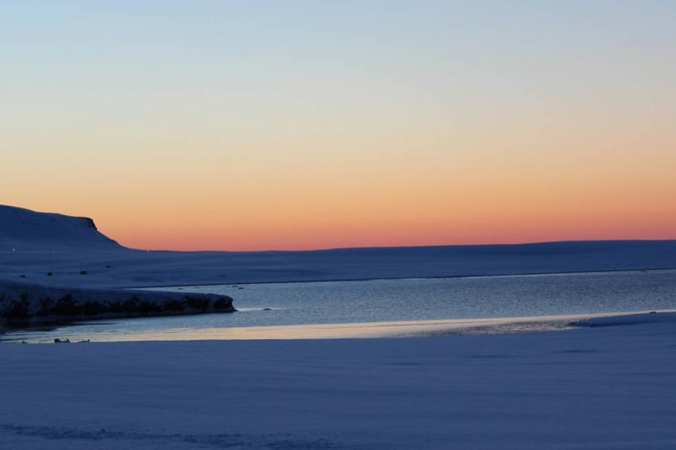 Sunset at Svalbard