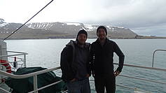 Arriving with Polarstern in Spitsbergen