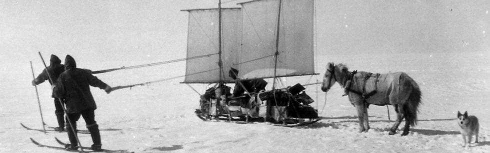 Photo of the Danish Greenland expedition headed by Johan P. Koch and Alfred Wegener