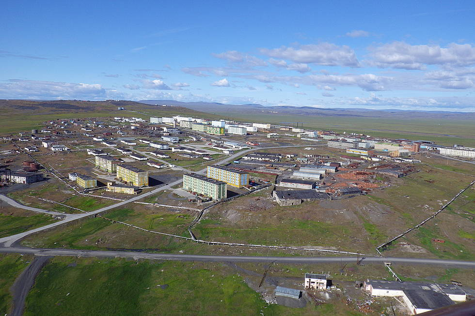 Tiksi from a bird's perspective