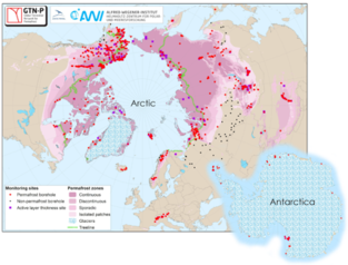 Übersicht aller Messpunkte des Global Terrestrial Network for Permafrost (GTN-P)