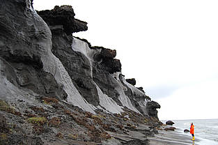 Coastal erosion at the siberian permafrost island Samoylov