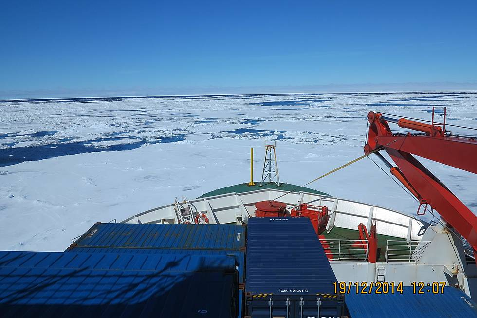 Sea ice observation from the bridge