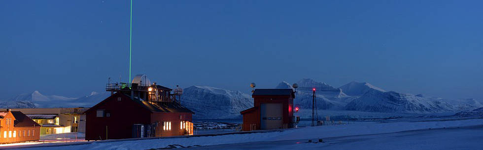 Laser beam: It is visible from all over Ny-Ålesund