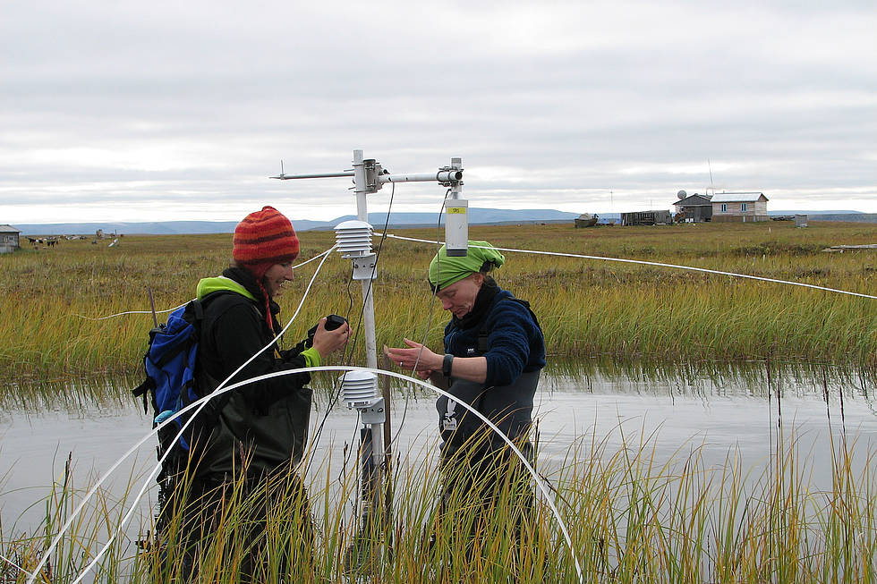 Measurements in the Siberian tundra